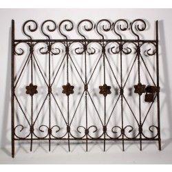 Astonishing 19th Century Wrought Iron Fence Panel With Swirls