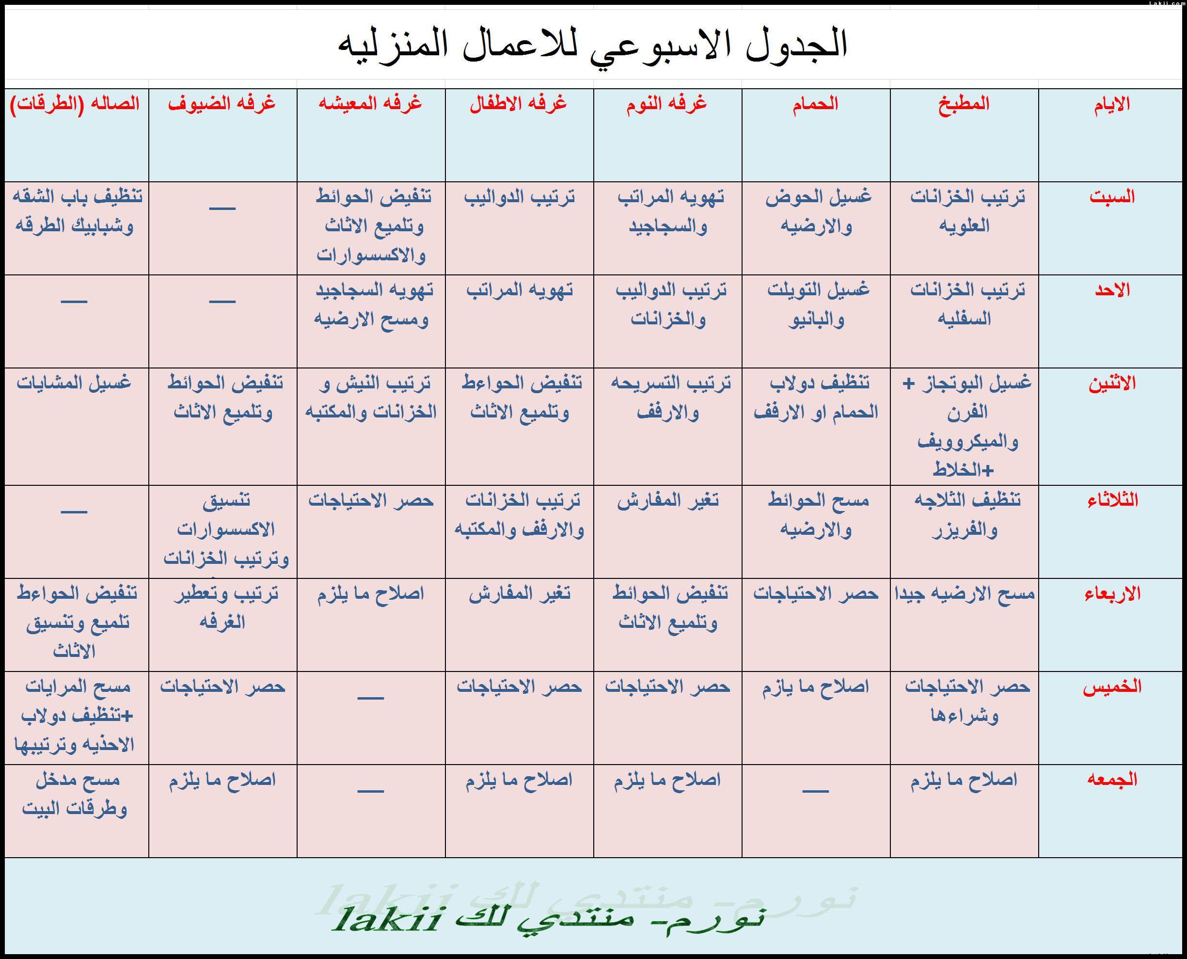 جدول يومي لتنظيم الوقت Google Search House Cleaning Checklist Life Planner Organization Clean House