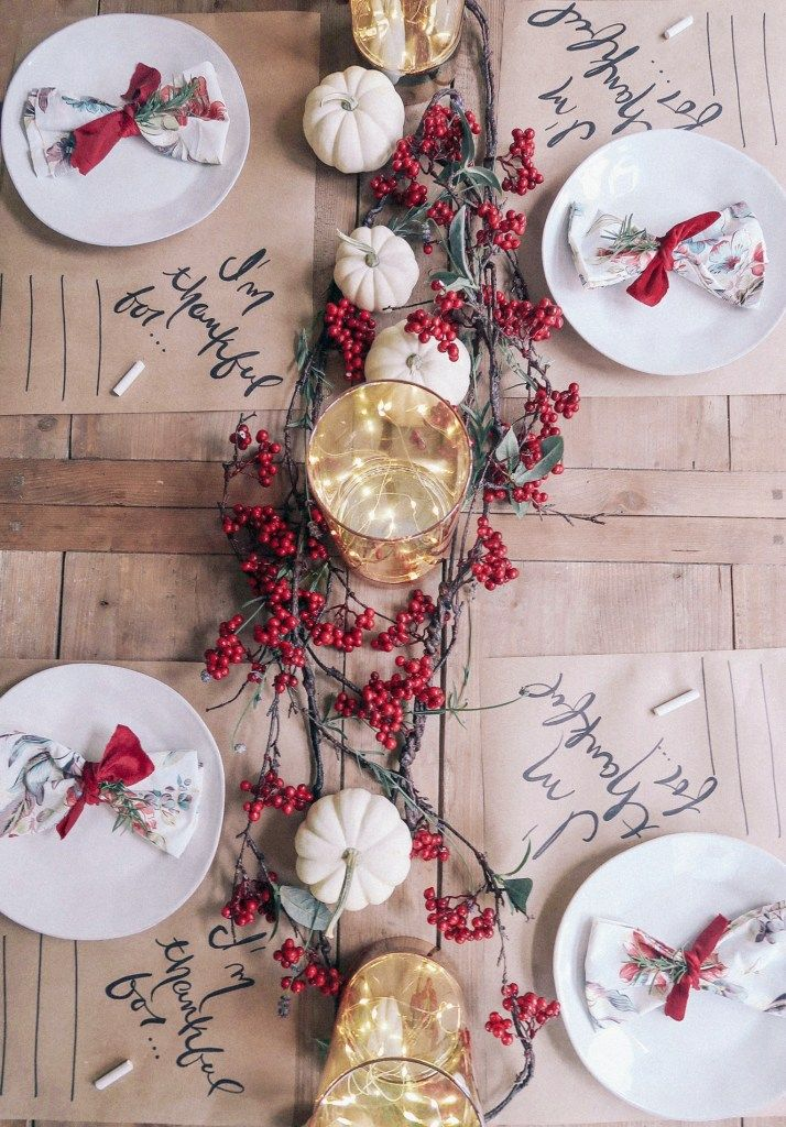 How to Decorate a Thanksgiving Table on a Budget – Zoe With Love