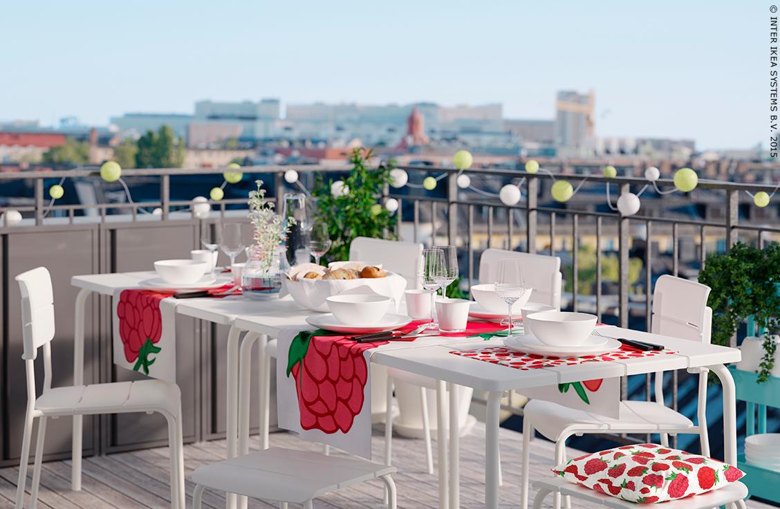 dinner with a view chemin de table sommar 2015 ikea terrasse t ikea house ikea ikea. Black Bedroom Furniture Sets. Home Design Ideas