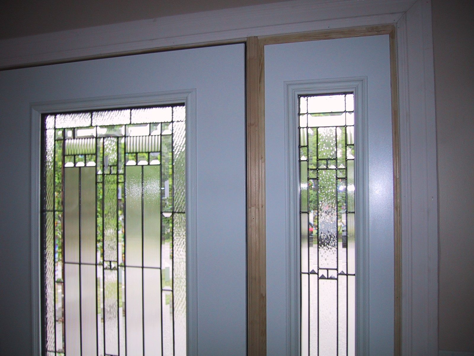 Exterior door glass inserts the glass inserts where you for Exterior door with sliding window