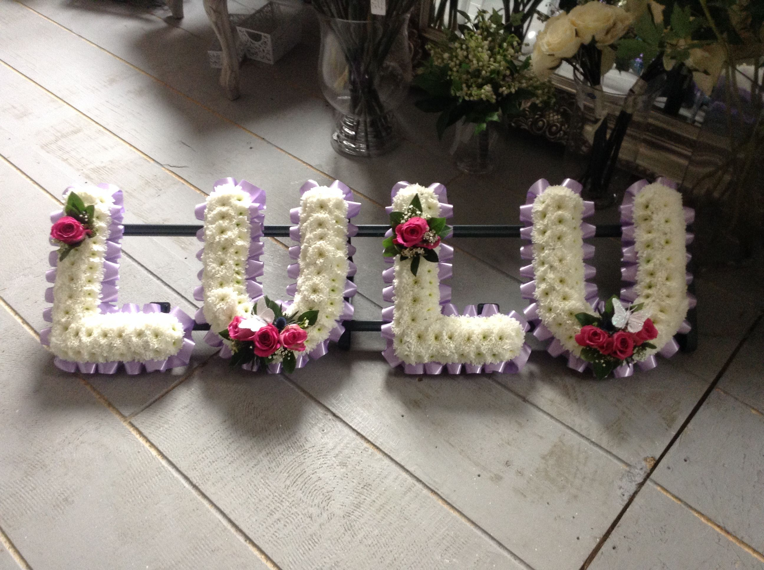 Funeral Flowers Lilac And White Funeral Letters Www
