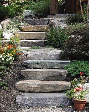 Diy steps for your yard sloped landscape landscaping for Garden design ideas sloping site