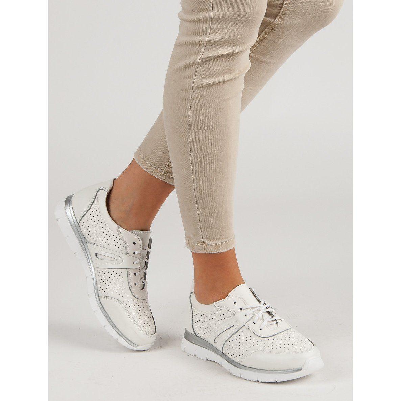 Filippo Biale Skorzane Buty Sportowe Tretorn Sneaker Shoes Sneakers