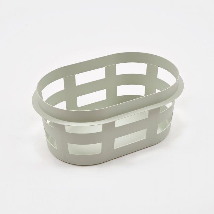 Hay Laundry Basket Light Grey Small Image 1 Basket Lighting