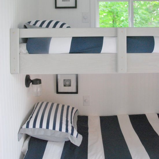 Floating Bunk Beds Are Built In This Cottage Bunk House Full Before