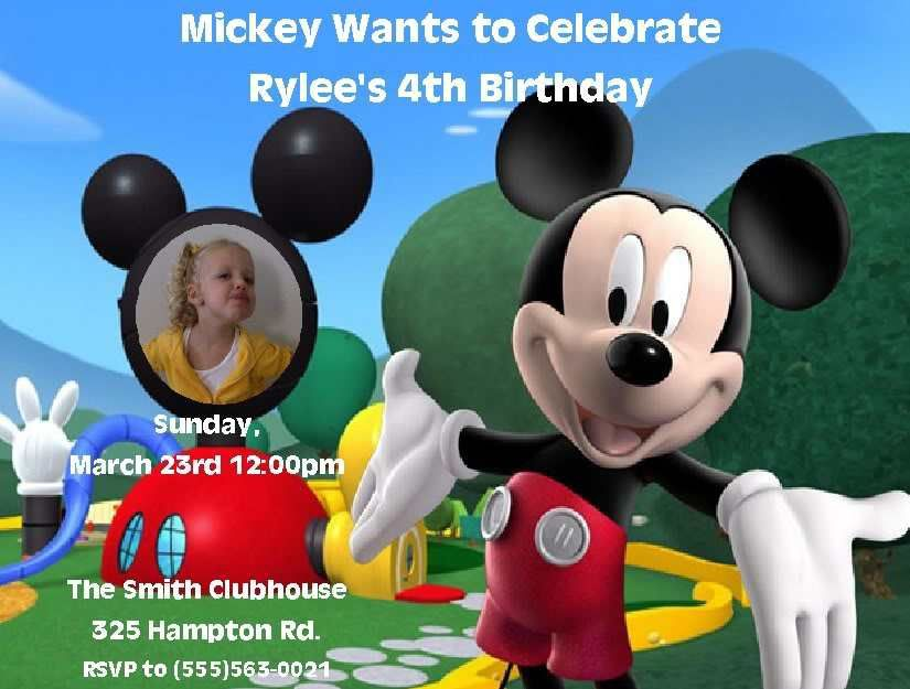 Free Printable Mickey Mouse Invitations Birthday u2013 Invitation - birthday invitation templates word free
