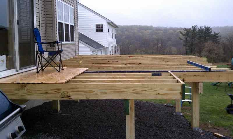 How To Build A Free Standing Deck Http Lovelybuilding