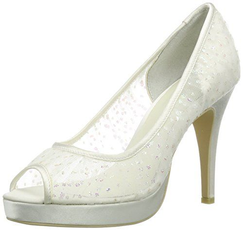 Menbur Wedding Denisa, Damen Slingback Pumps, Elfenbein (Ivory), 36 EU