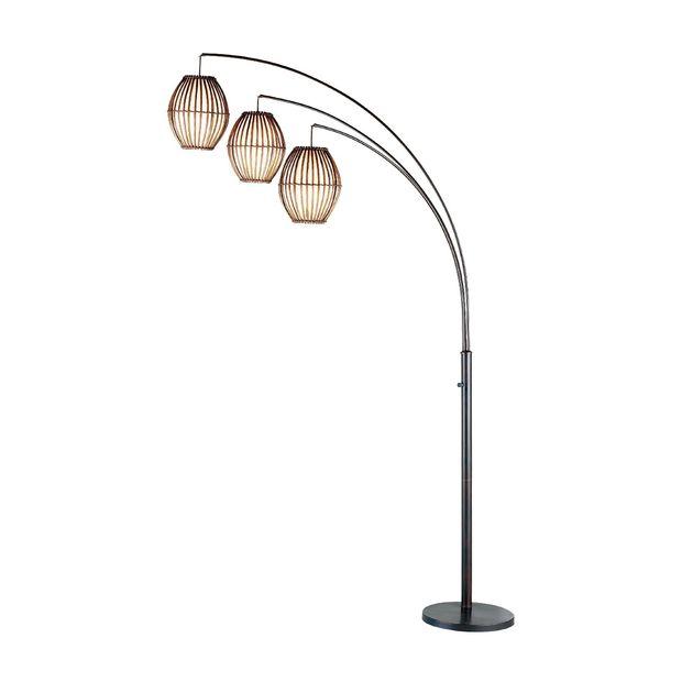 3 Head Metal Globe Floor Lamp
