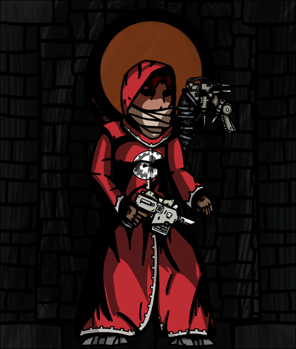 Started Drawing Some 40k Stuff In The Darkest Dungeon Artstyle Forgot To To Upload Here First Two Are A Tech Priest And A Gua Darkest Dungeon Drawings Priest