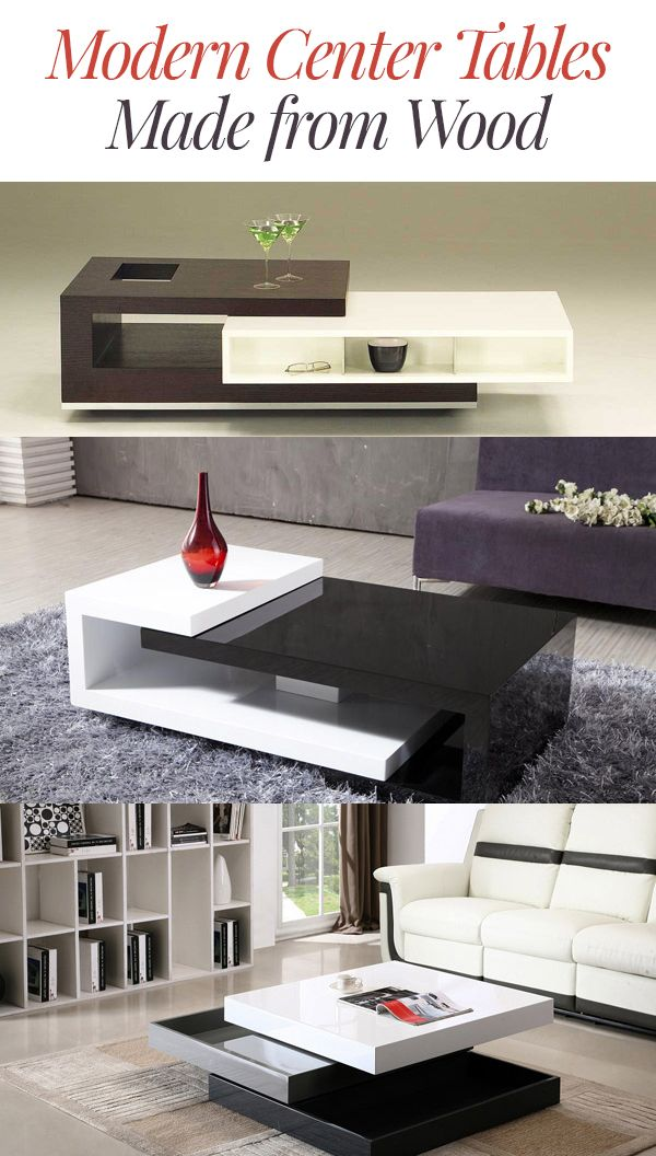 15 Modern Center Tables Made From Wood Home Design Lover Center Table Living Room Living Room Table Center Table