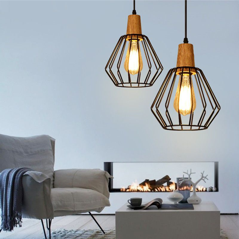 Kitchen Pendant Light Modern Ceiling Lights Wood Chandelier Lighting Home Lamp