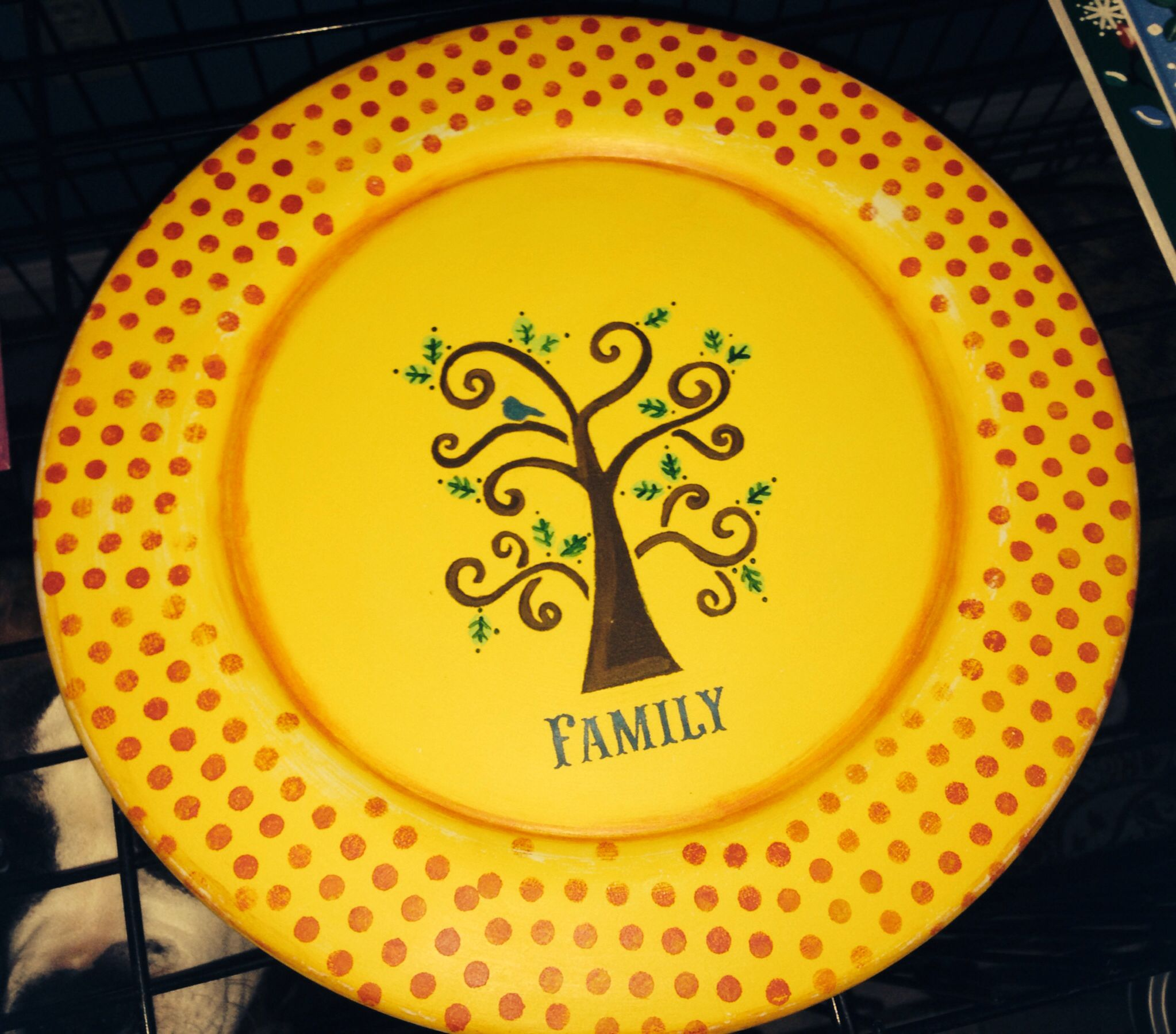 Acrylic Paint Plate Family Tree Painted Plates Fun Crafts Plates