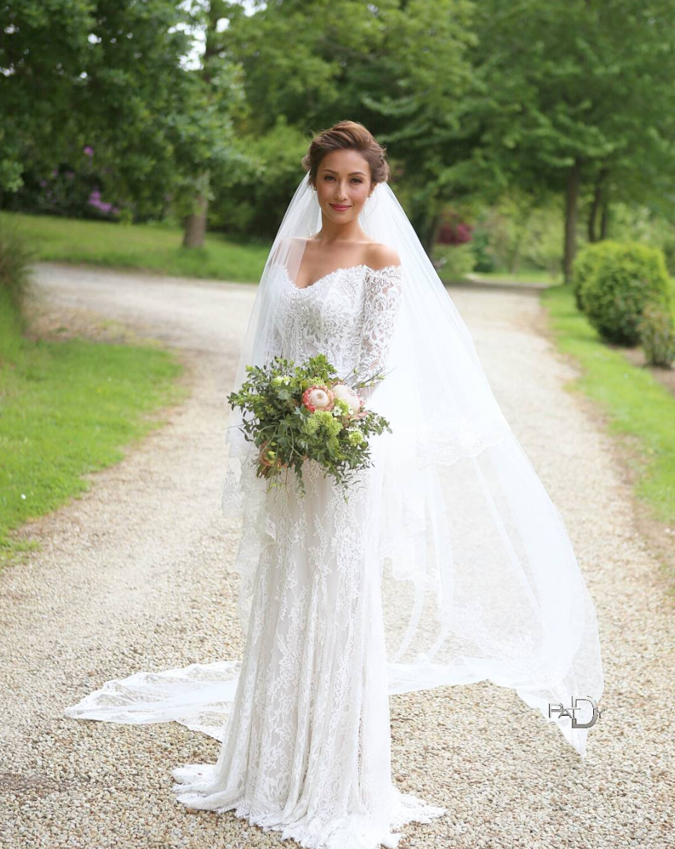 lace lihi hod wedding gown // celebrity solenn heussaff's gorgeous