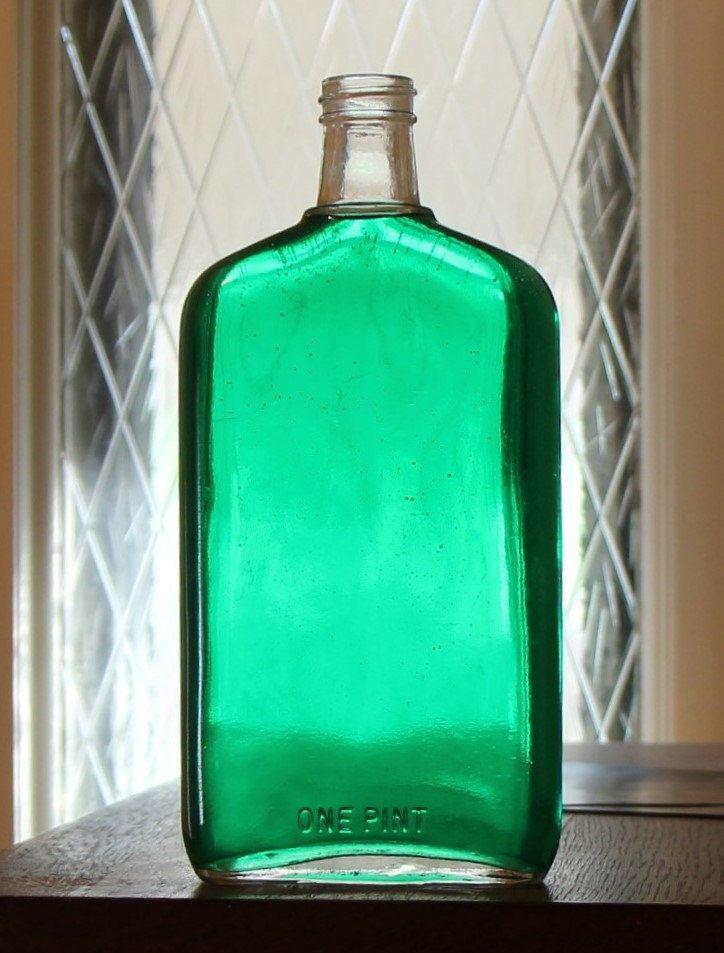 Vintage Pint Bottle by KjgBoutique on Etsy