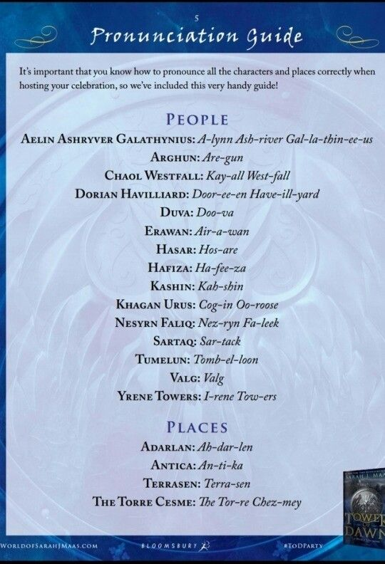 Tower Of Dawn Pronunciation Guide I Can T Stop Laughing That
