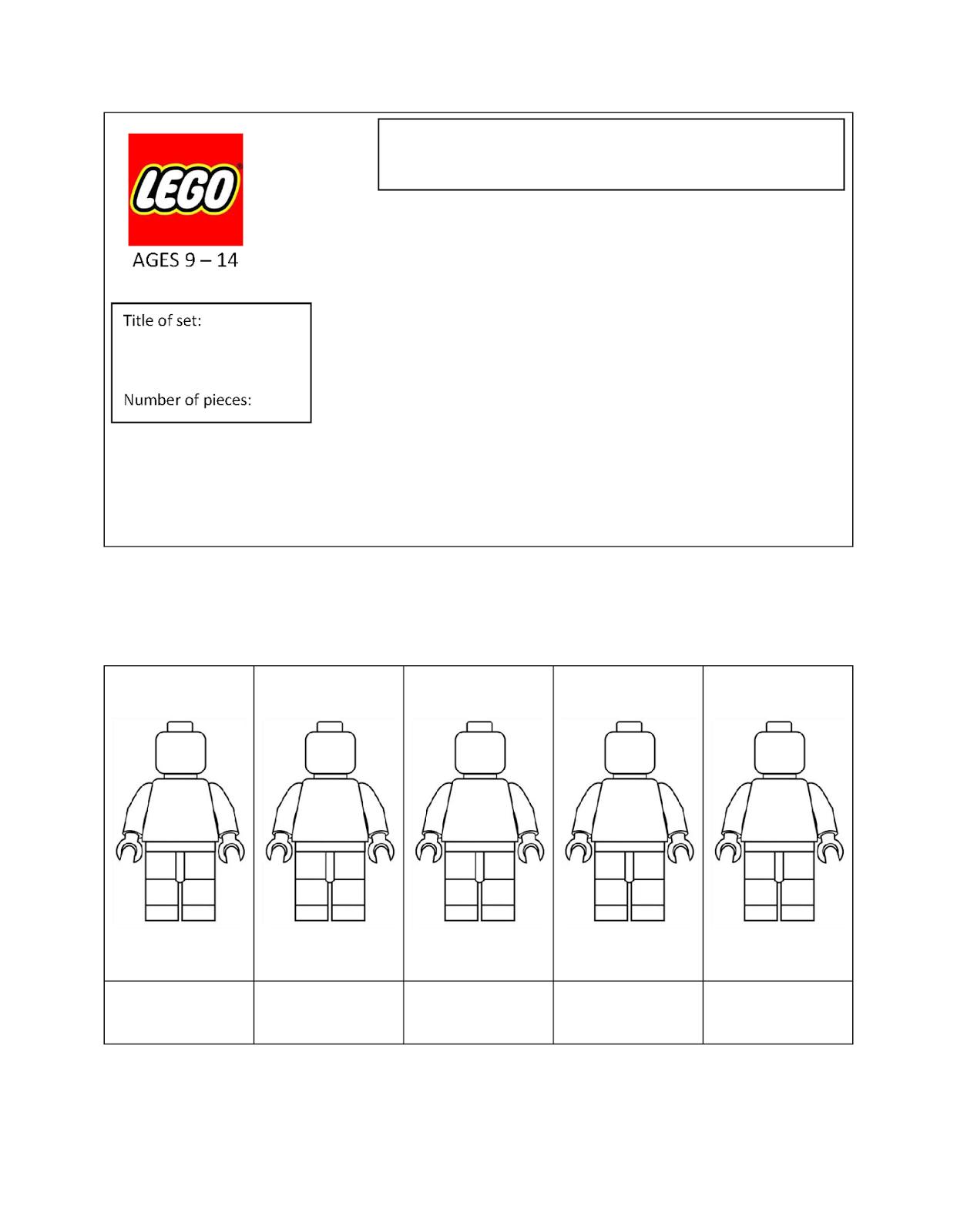 Lego Templates Lego Packaging Lego Minifigures