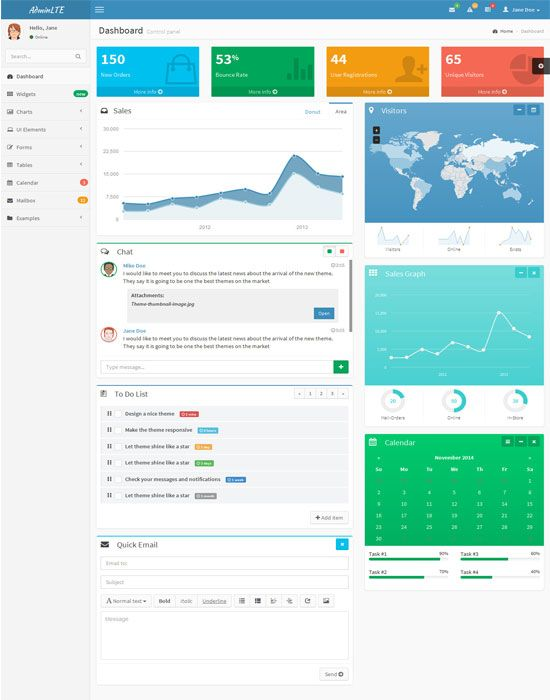 AdminLTE - Free Dashboard and Control Panel | cards | Pinterest ...