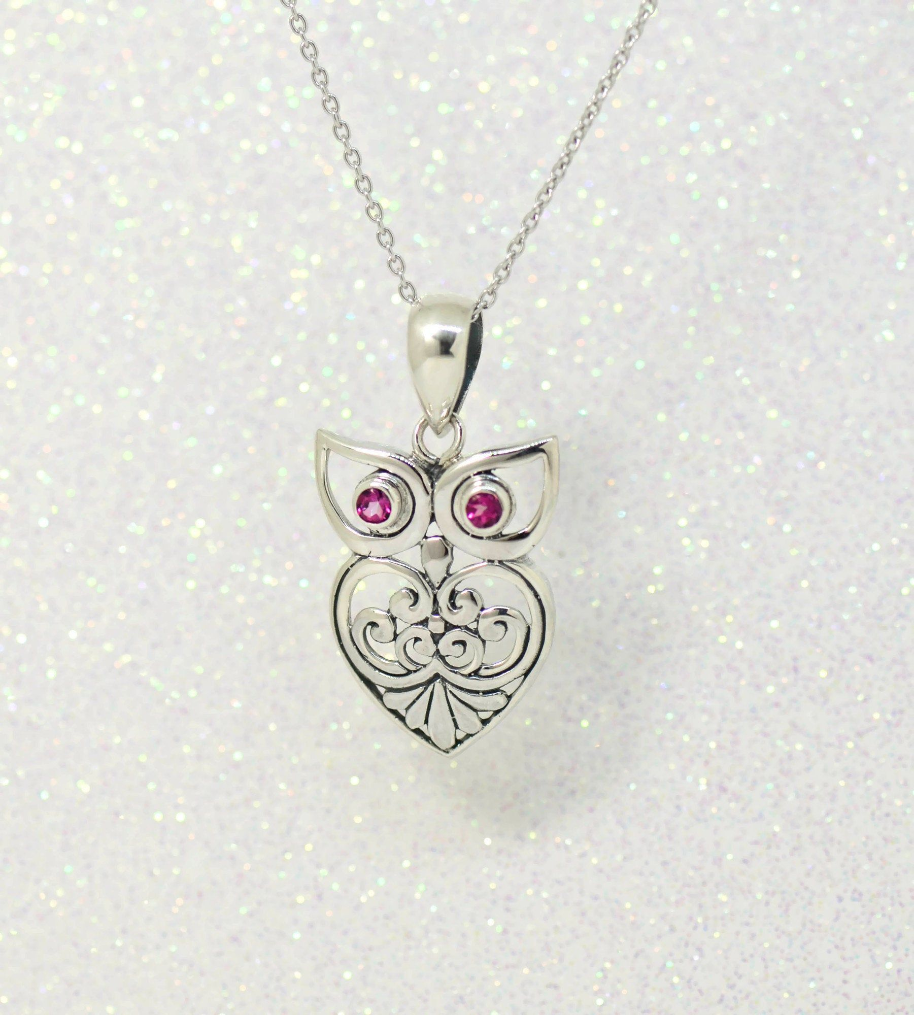 Solid 925 Sterling Silver Enameled Heart Mom with Lobster Clasp Pendant Charm 14mm x 15mm