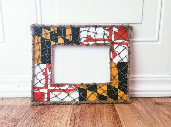 Maryland Flag Picture Frame | Maryland, Flags and Wooden picture frames