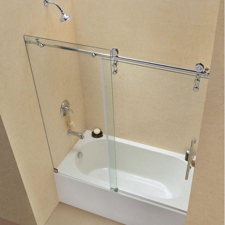 Meijia 8 12mm Glass Thickness Frameless Glass Sliding Shower Door Bathroom Sliding Door Https App Alibaba Com Dynami Bathtub Doors Tub Shower Doors Tub Doors