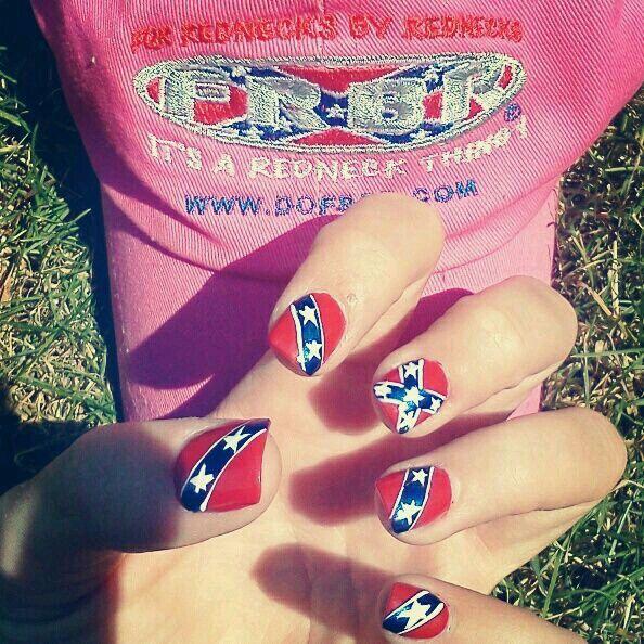 Confederate flag nails nails pinterest flag nails rebel confederate flag nails prinsesfo Gallery