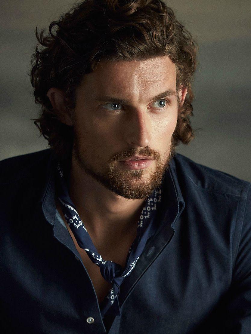 Wouter Peelen For Massimo Dutti Hair And Beard Styles Dark Haired Men Dark Hair Blue Eyes