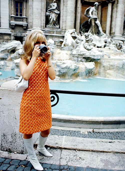 """theswinginsixties:  Nancy Sinatra in Italy, 1966.  """