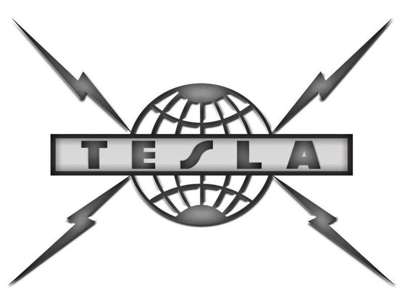 logo 80's hard rock band tesla