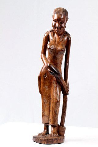 African Table Figurine Woman Pouring Water By Myafricancollection 169 99 African Sculptures African Women