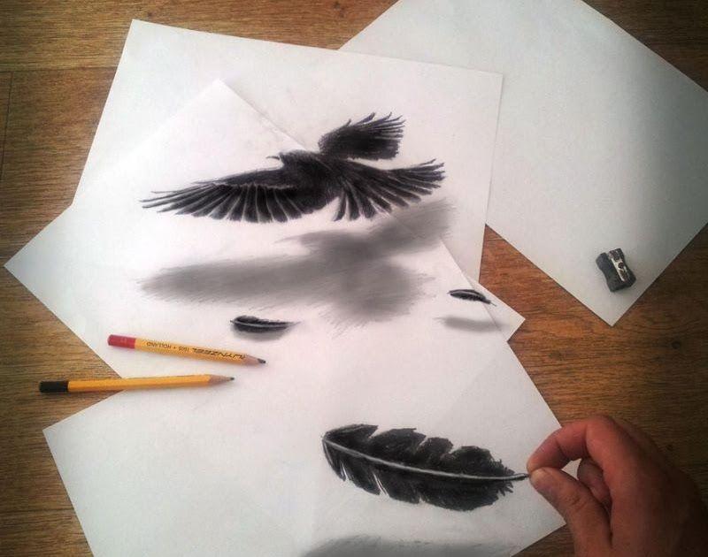 34 Lukisan 3d Sederhana Di 2020 Menggambar Dengan Pensil Lukisan Gambar Hewan