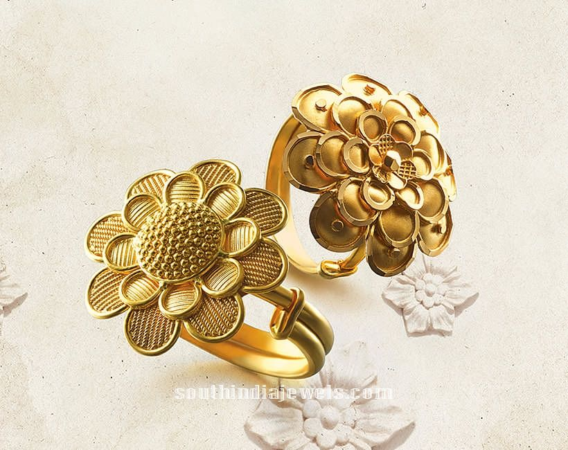 22k gold adjustable rings from tanishq Ring Collections