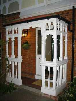 Elaborate Edwardian Turned Wood Porch Porch Stairs