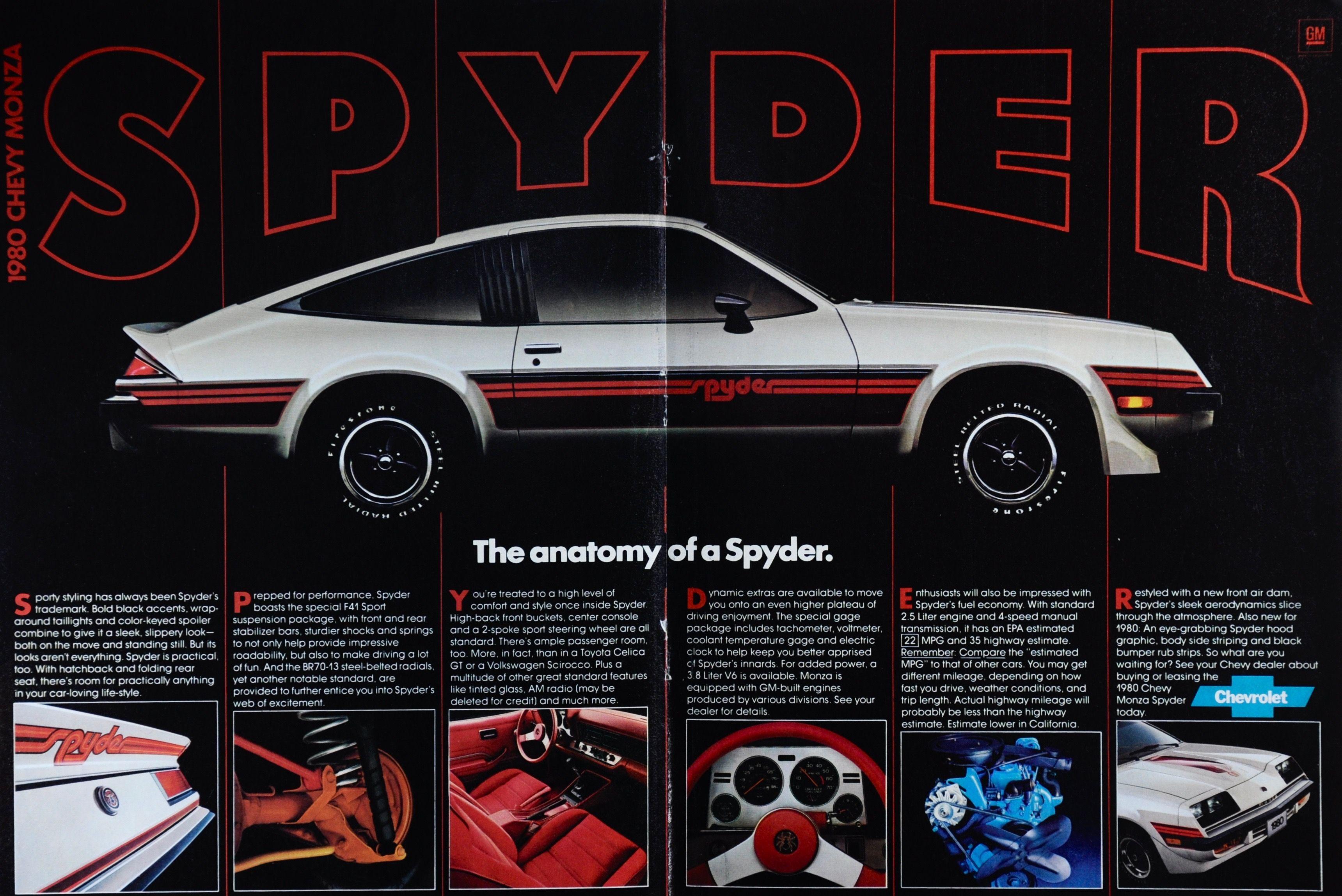 1980 Chevy Monza Spyder In 2020 Chevrolet Spyder Monza