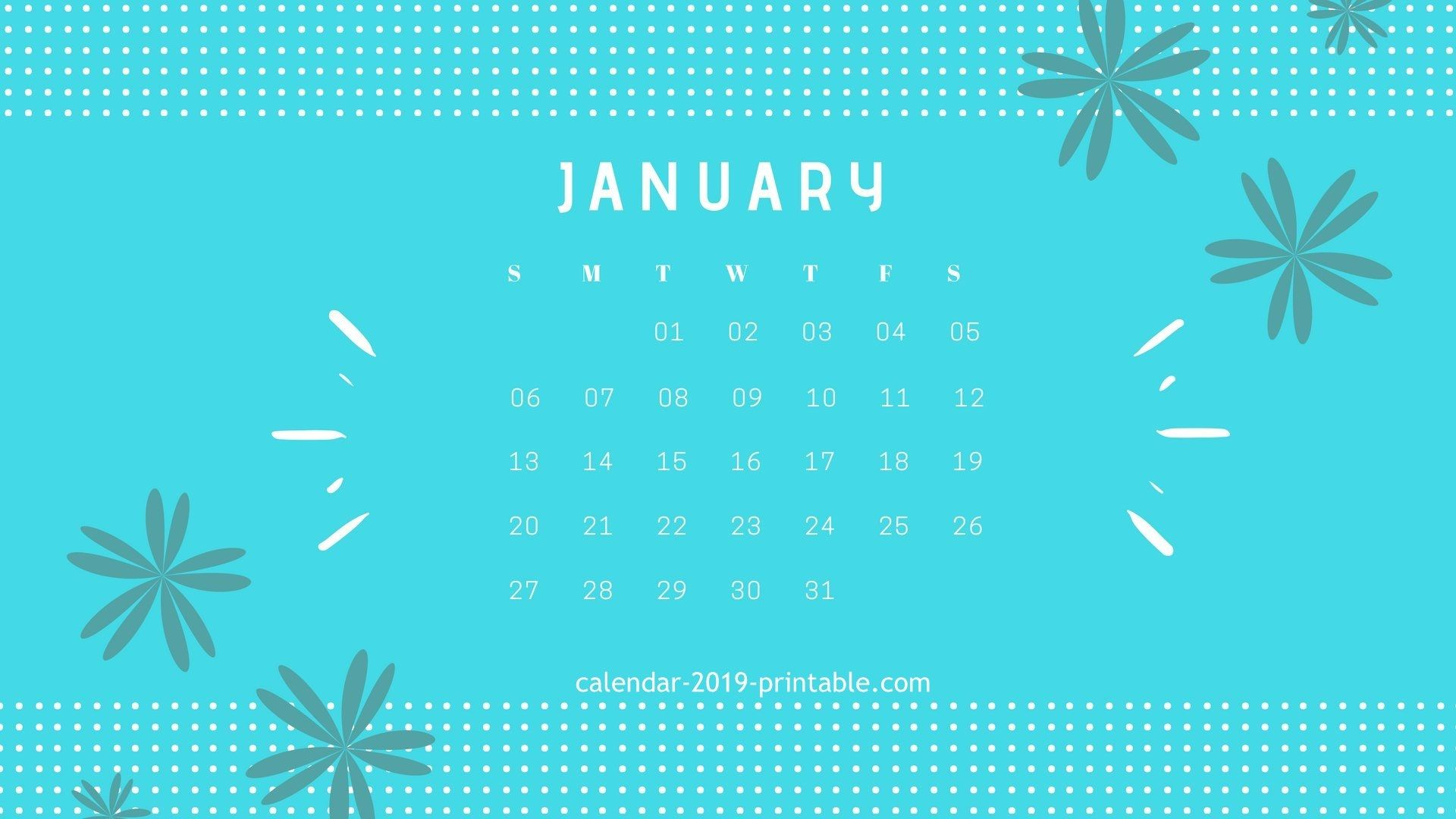 January 2019 Calendar Desktop january 2019 calendar desktop wallpapers calendar 2019