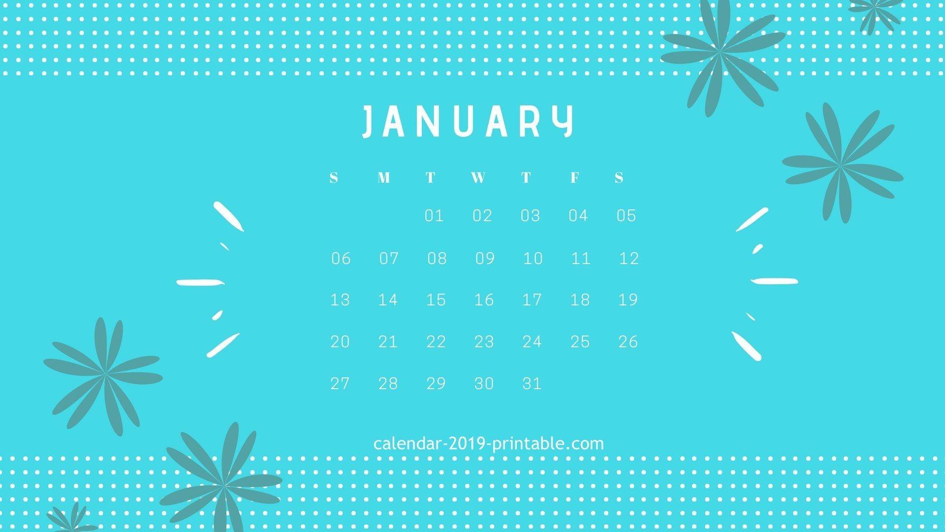 january 2019 calendar desktop