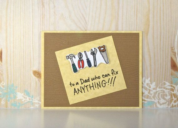 Father Birthday Card Fathers Day Card Tools Wood Grain Blind – Birthday Cards for the Blind