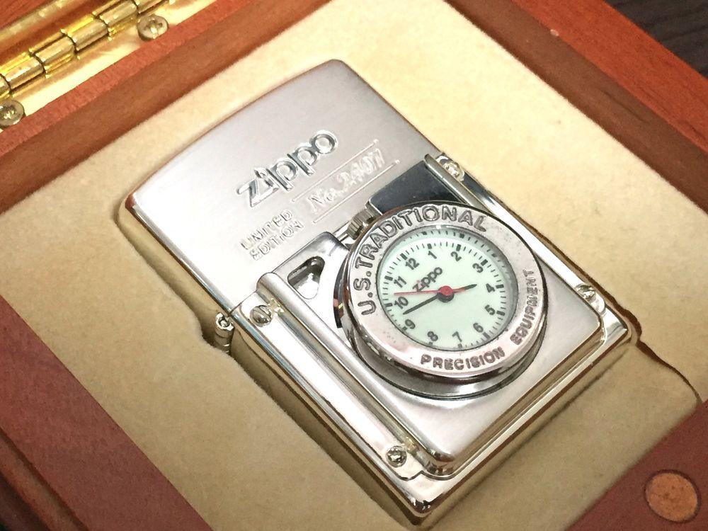 Rare Zippo Limited Edition Time Light Pocket Watch Lighter With Case No 2407 Zippo Zippo Limited Edition Ebay