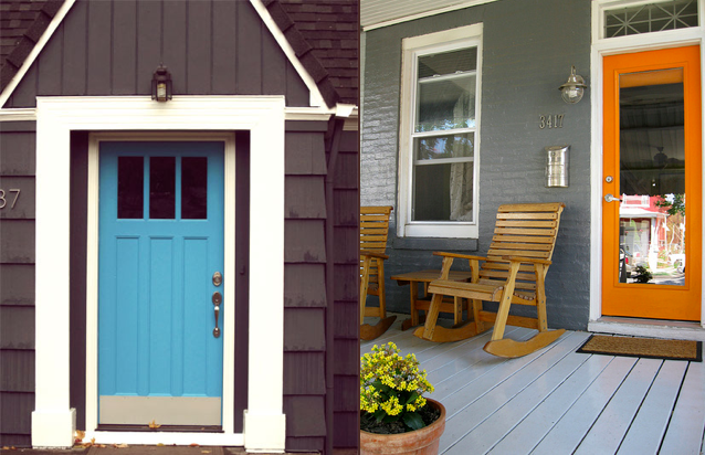 Colorful front doors portland real estate & Colorful front doors portland real estate | paint it | Pinterest ...