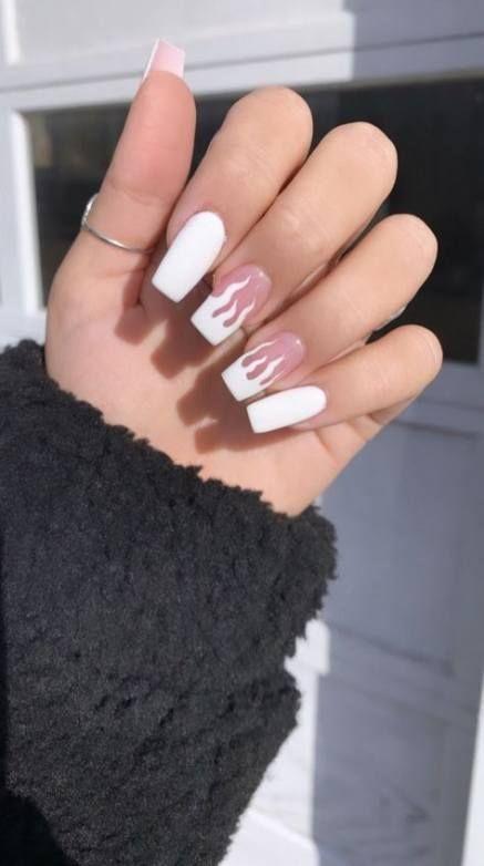 Acrylic Nails Aesthetic Acrylic Nails Aesthetic Acrylic Nails Black Acrylic In 2020 Fire Nails Ballerina Nails Short Acrylic Nails
