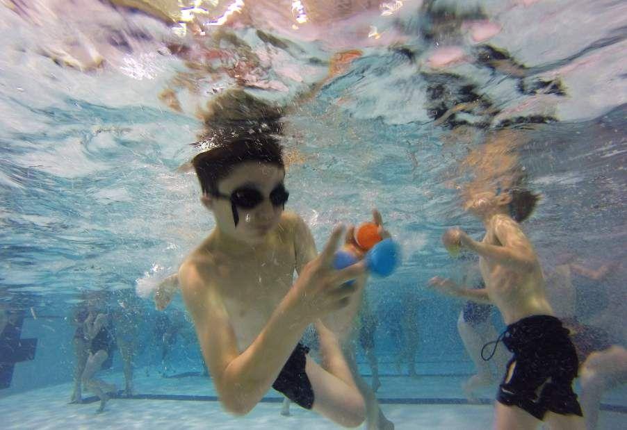Diving for Easter treasure Easter, Diving, Easter eggs