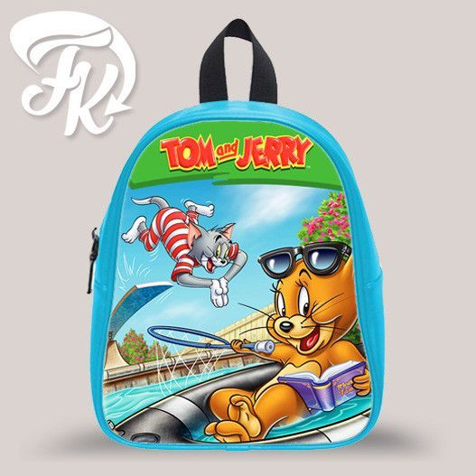 Tom And Jerry In Pool Kid School Bag Backpacks for Child