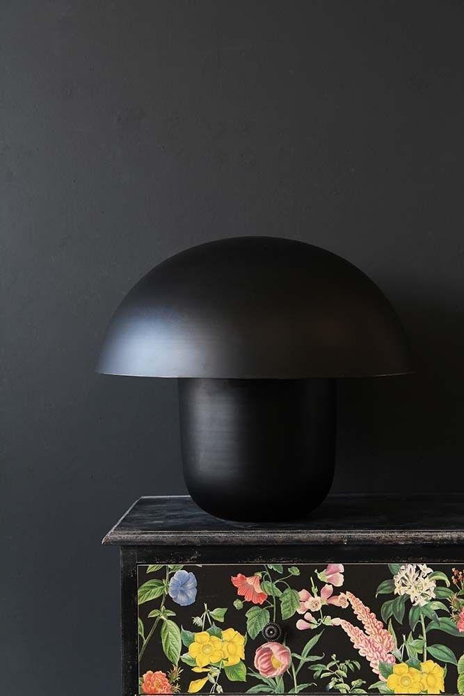 Black Metal Bedside Tables: Mushroom Table Lamp - Black In 2020