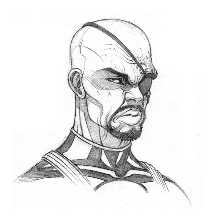 Nick Fury by Tradd Moore