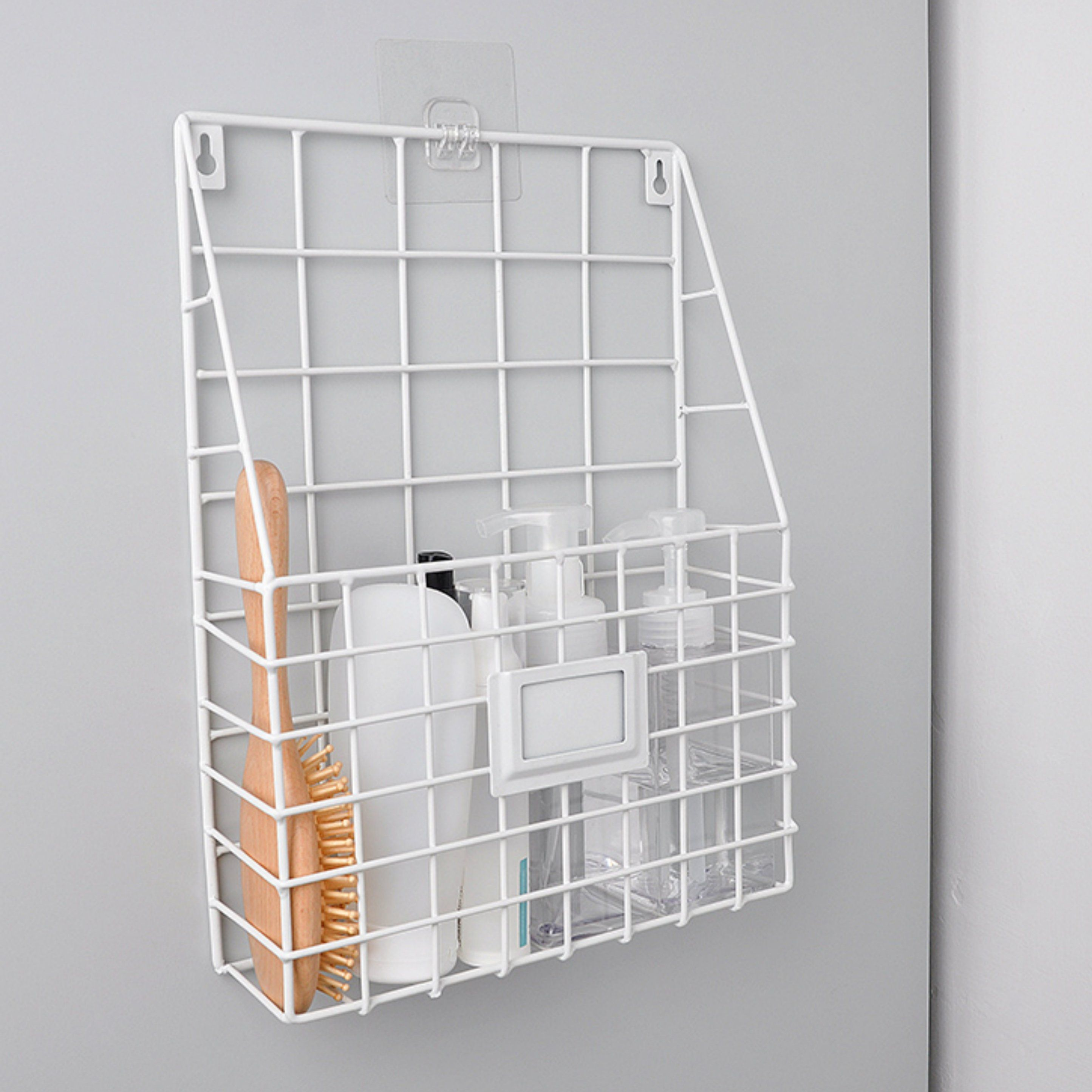 Photo of Minimalist Hanging Storage Rack – White