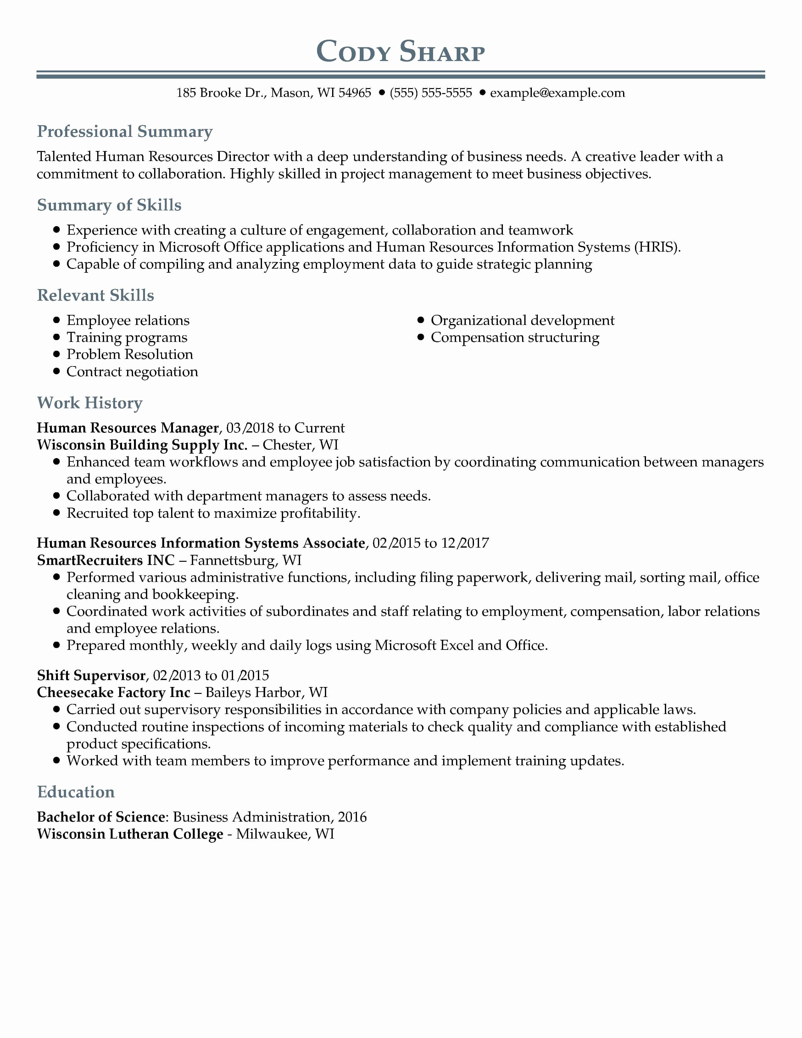 Academic Projects In Resume Example Luxury 30 Resume Examples View By Industry Job Title In 2020 Resume Examples Professional Resume Examples Good Resume Examples