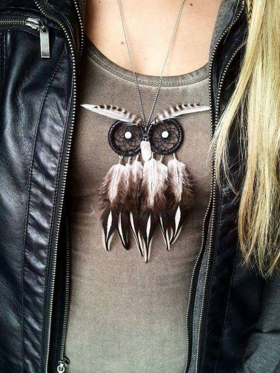 How To Make Dream Catcher Necklace Owl Dream Catcher DIY Easy Video Tutorial Dream catcher necklace 13