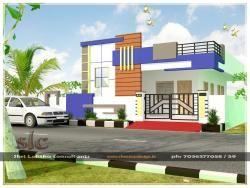 East facing elevation 40x40 south east corner face house for 3 floor house elevation designs andhra