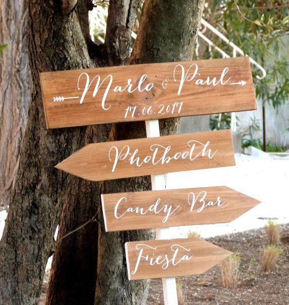 panneau direction pour mariage sans piquet fl che personnalisables bois panneau. Black Bedroom Furniture Sets. Home Design Ideas